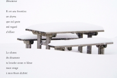 Table de Pique-nique sur le Mont Salève, Haute-Savoie. Poème ˆsur la sŽéparation.