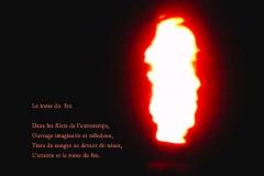 Flamme de la rafinerie de Monthey, canton du Valais. Poème àˆ l\'inspiration.