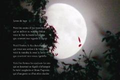 Lever de lune, Rivèire-Enverse, Haute-Savoie. Poème surˆ la mort.