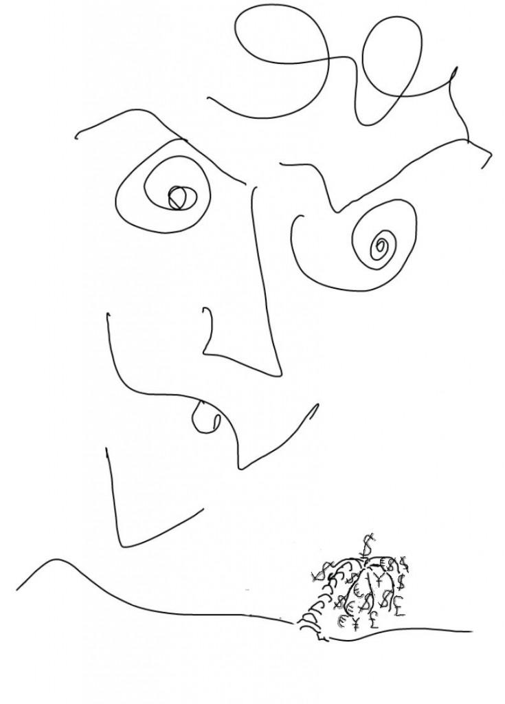Mono-culture, dessin de Robert Fred, Genève, 2013