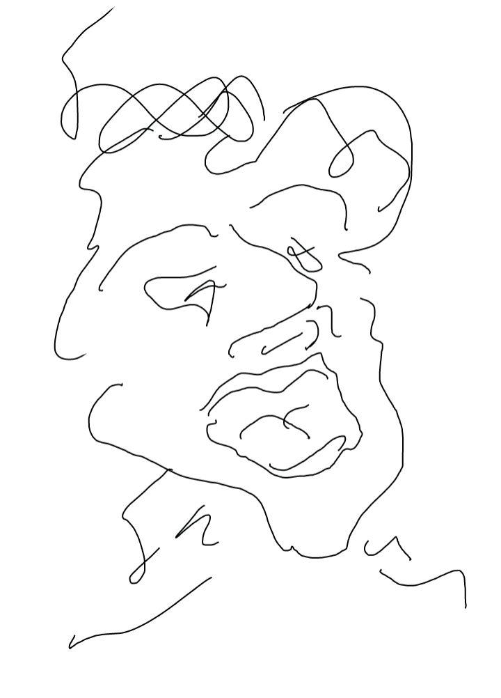 Cri, dessin de Robert Fred, Genève, 2013