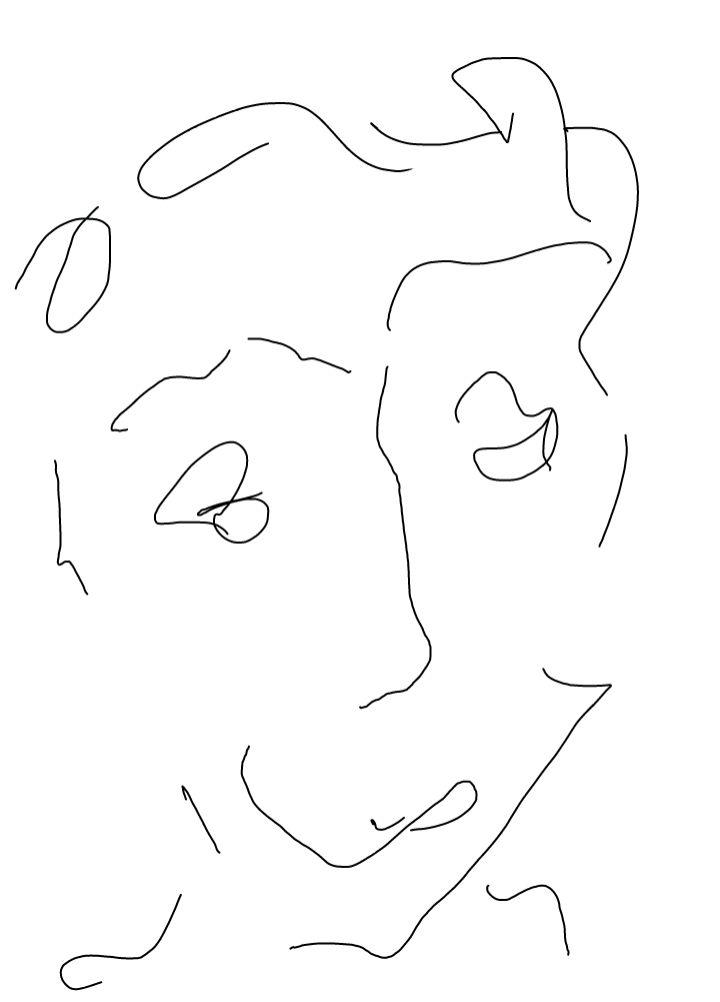 Visage, dessin de Robert Fred, Genève, 2013