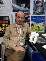 Frédéric Naef à la signature de Bourg-de-Four au Salon du livre de Genève