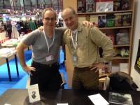 Robert Fred et Frédéric Naef à la signature de Bourg-de-Four au Salon du livre de Genève