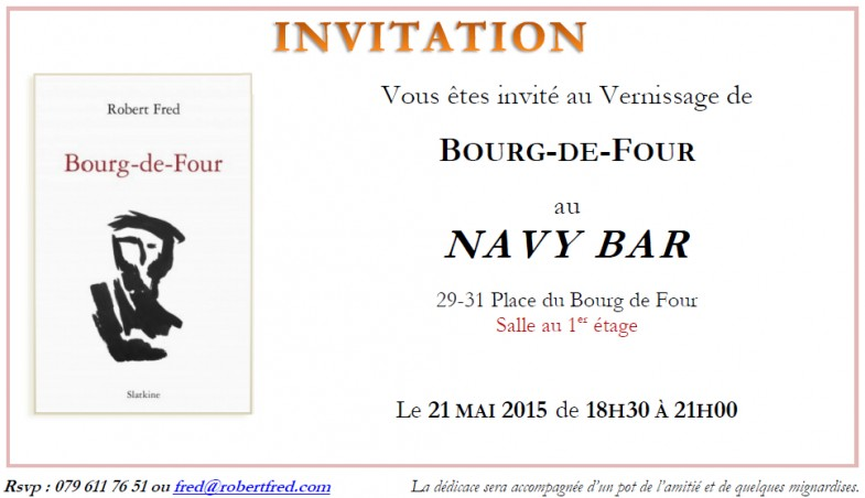 Vernissage de Bourg-de-Four