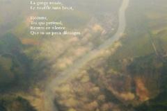 Fleuve depuis le vol Genève-Luxembourg. Poème à la montagne.