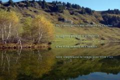 Lac de Joux-Plane, Haute-Savoie. Poème ˆà l\'humilitéŽ.