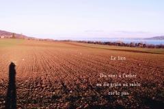 Lac de Neuchâ‰tel, au-dessus d\'Yverdon. Poème àˆ la Terre.