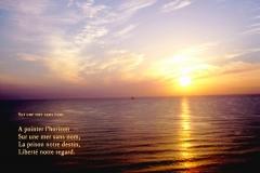 Lever de soleil en MéŽditerranéŽe. Poème sur le regard.